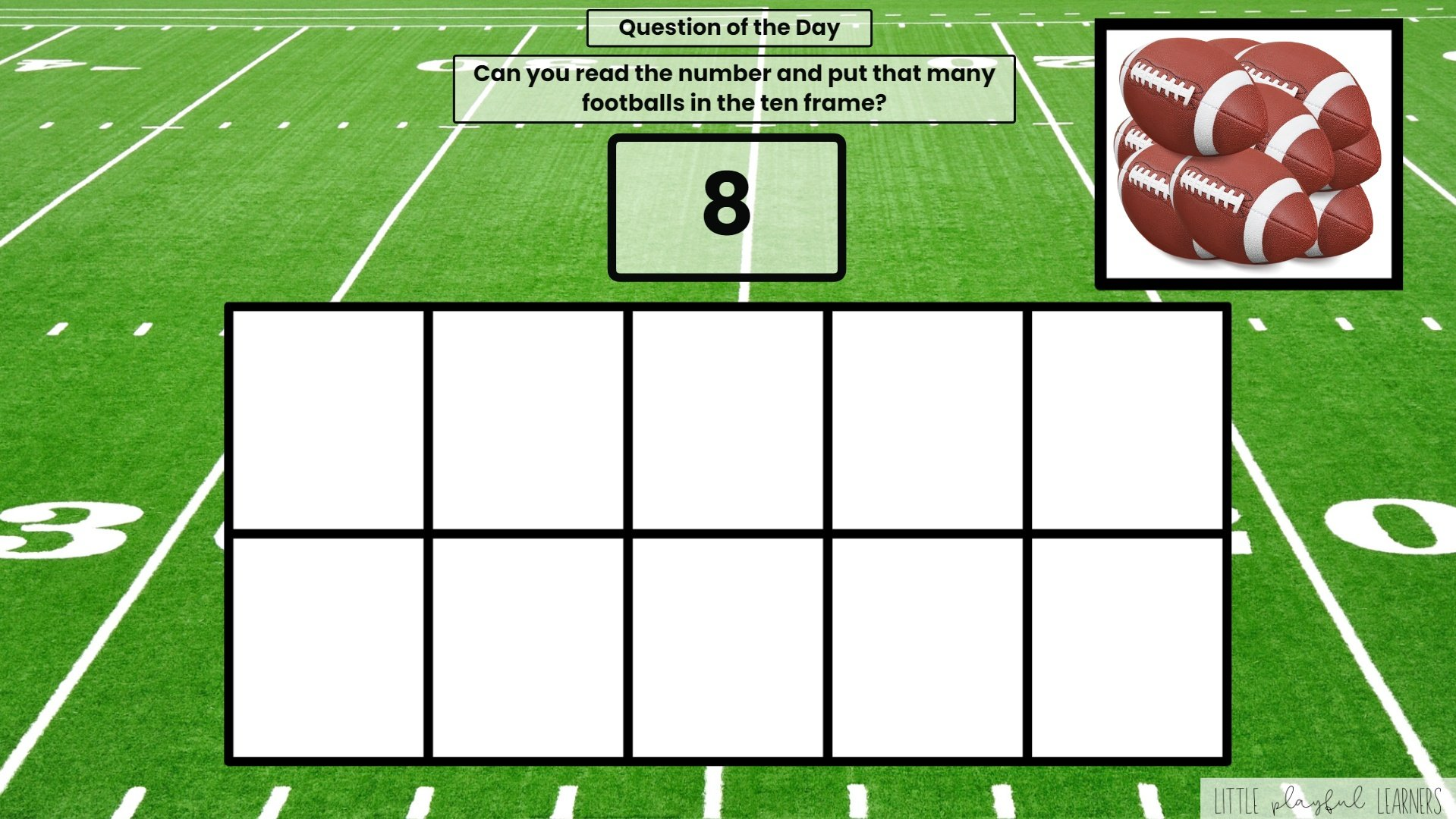 Seesaw: Counting and Number ID - football theme