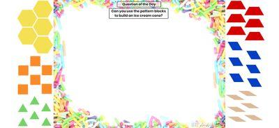 Seesaw: Pattern block challenge - ice cream theme