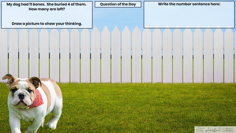 Seesaw: Story problem - pets theme