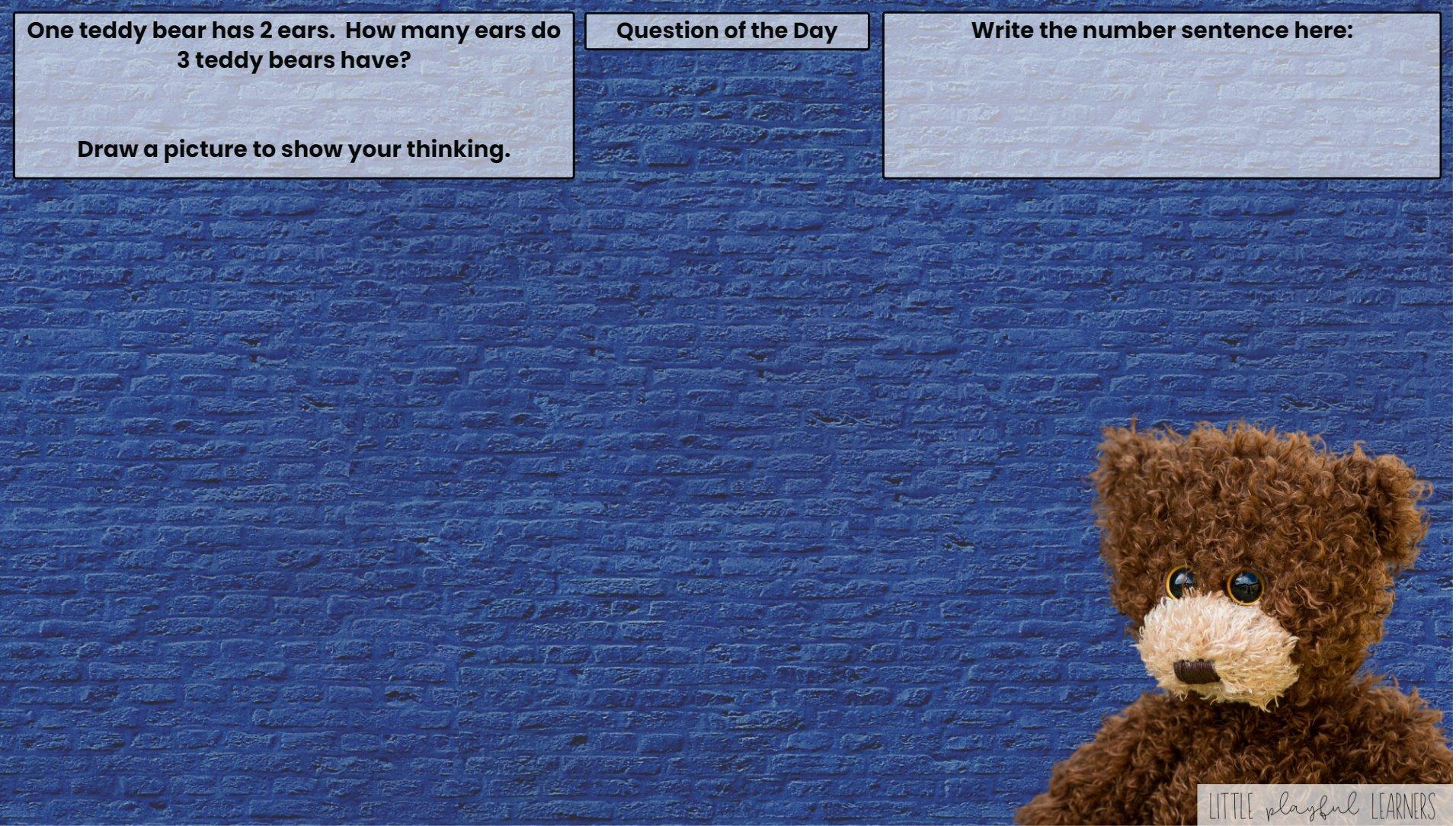 Seesaw: Story problem - teddy bear theme