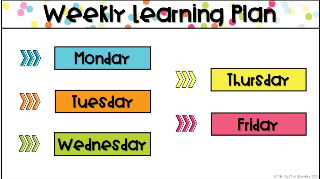 Seesaw weekly lesson plan template for distance learning