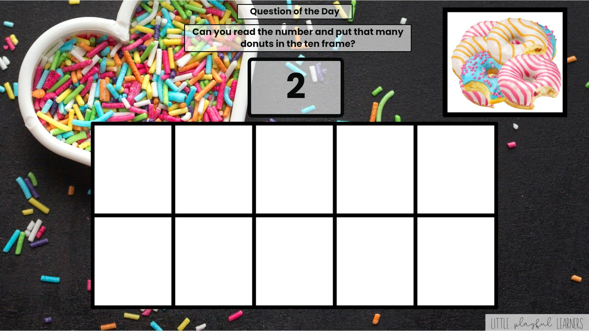 Seesaw: Counting and Number ID - donut theme