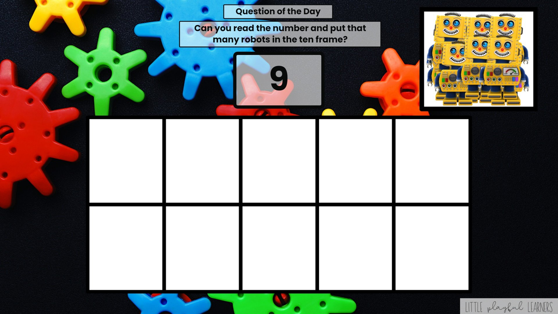 Seesaw: Counting and Number ID - robot theme