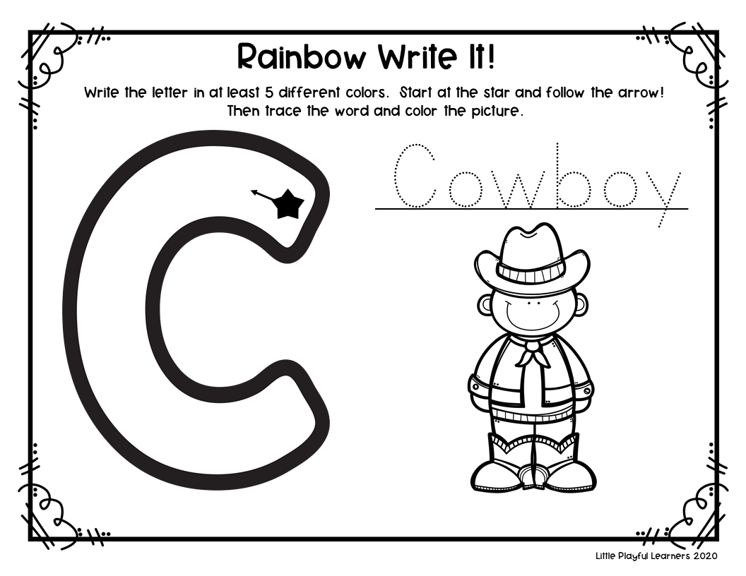 Rainbow Writing: Letter Formation Practice for Seesaw