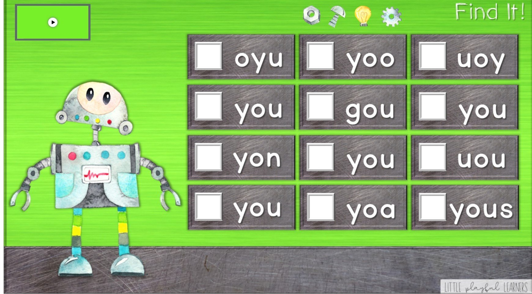 Reading Robots: Sight Word Practice for Seesaw