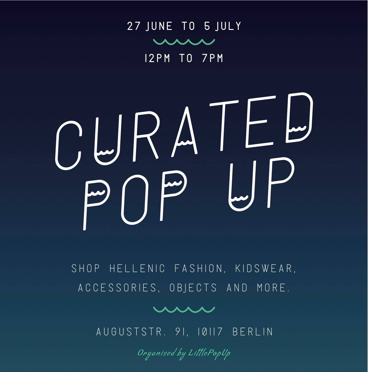 Curated Pop Up – Greek Fashion