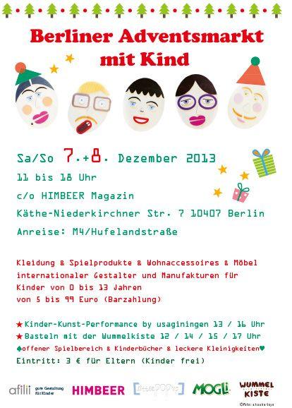 Berliner Adventsmarkt mit Kind