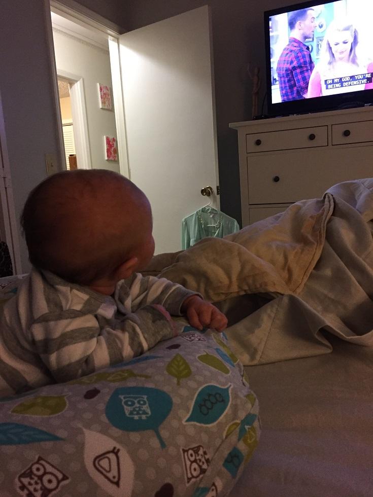 baby watching netflix