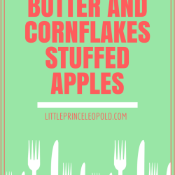 Peanut Butter and Cornflakes Stuffed Apples