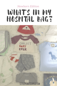 What to pack for baby in hospital bag
