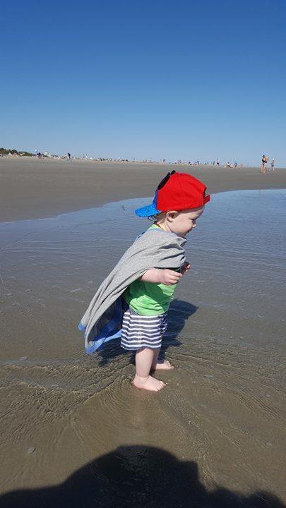 keep warm at the beach
