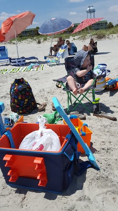 Beachmate with toddlers