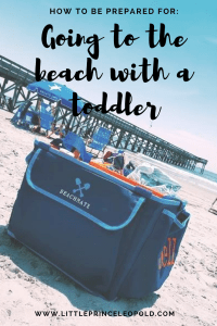 going to the beach with a toddler