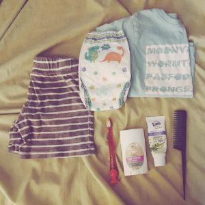 toddler bedtime bathtime pajamas lotion toothbrush