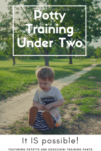 potty training under two