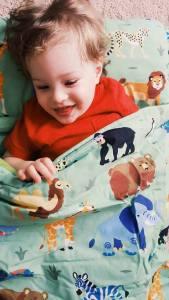 wild animals-bedding-nap mat-toddlers