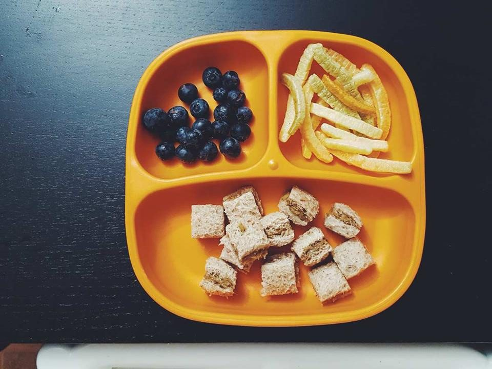toddler meals-peanut butter and jelly-blueberries-kids food