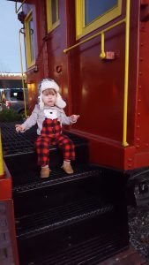 polar bear pajamas train ride
