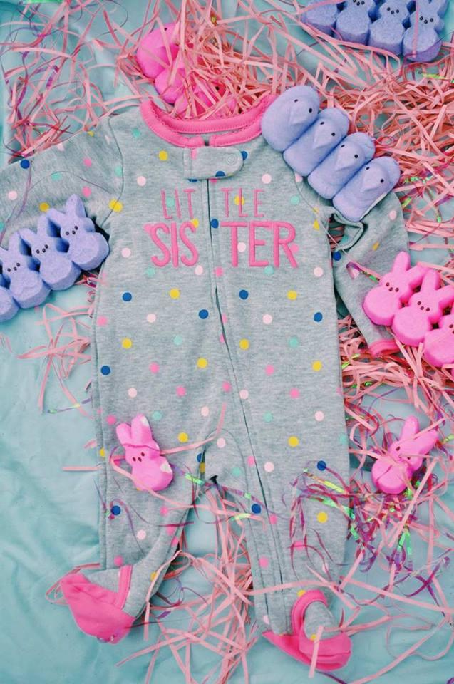 baby sister-little sis-its a girl-sneak peek gender reveal