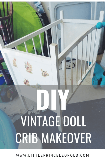 Vintage Doll Crib Makeover