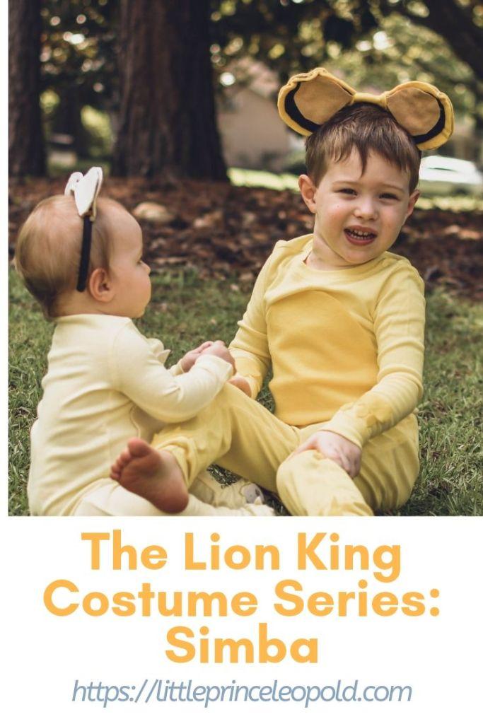 the lion king simba costume no sew primary dot com