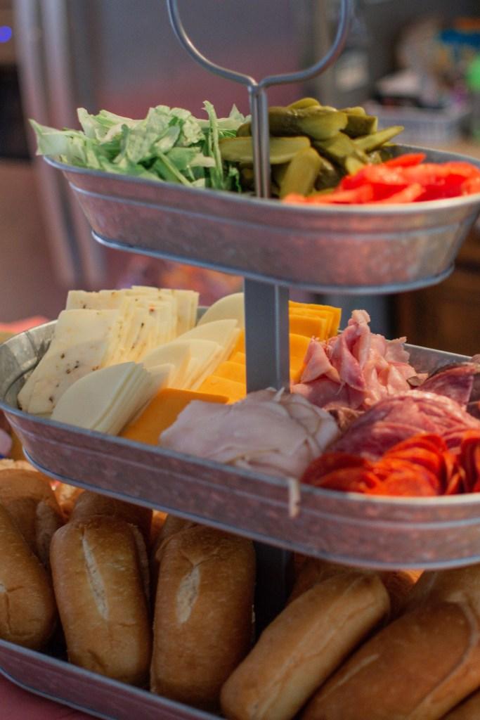sandwich bar party food