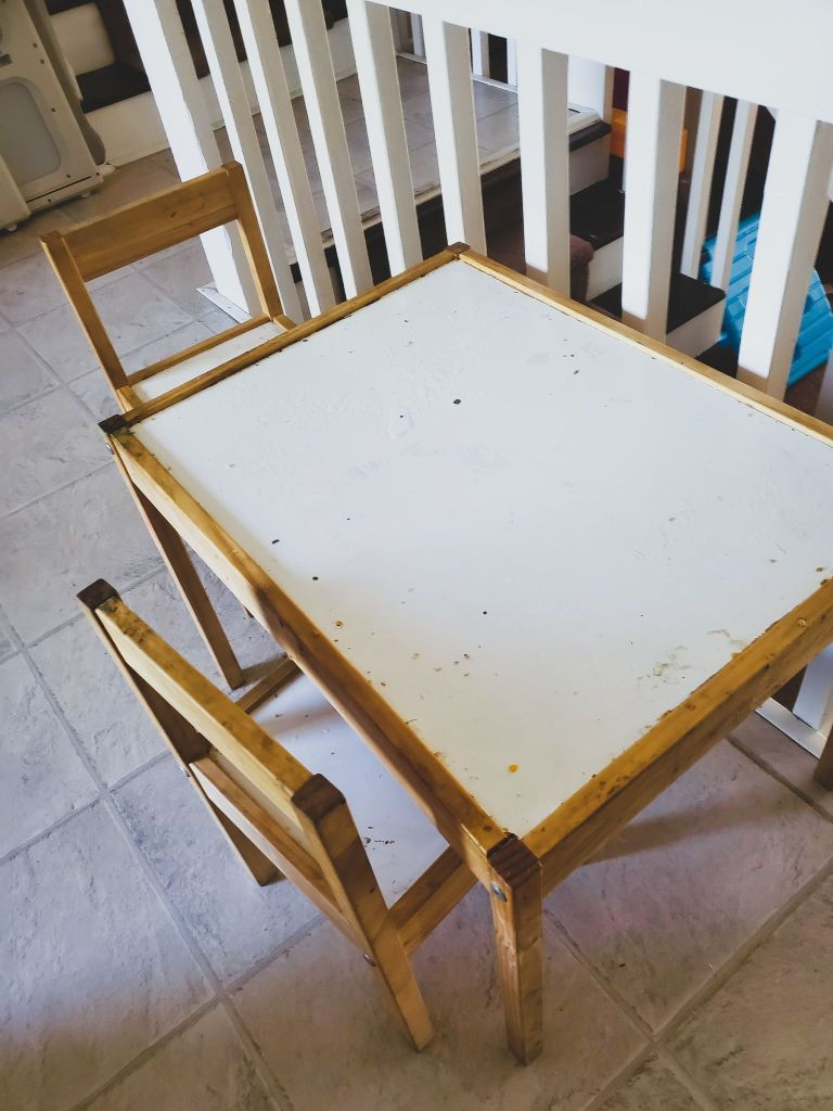 ikea latt- kids table- ikea hack- furniture- home renovation