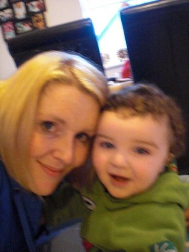 An exhausted mammy and her best boy.xx