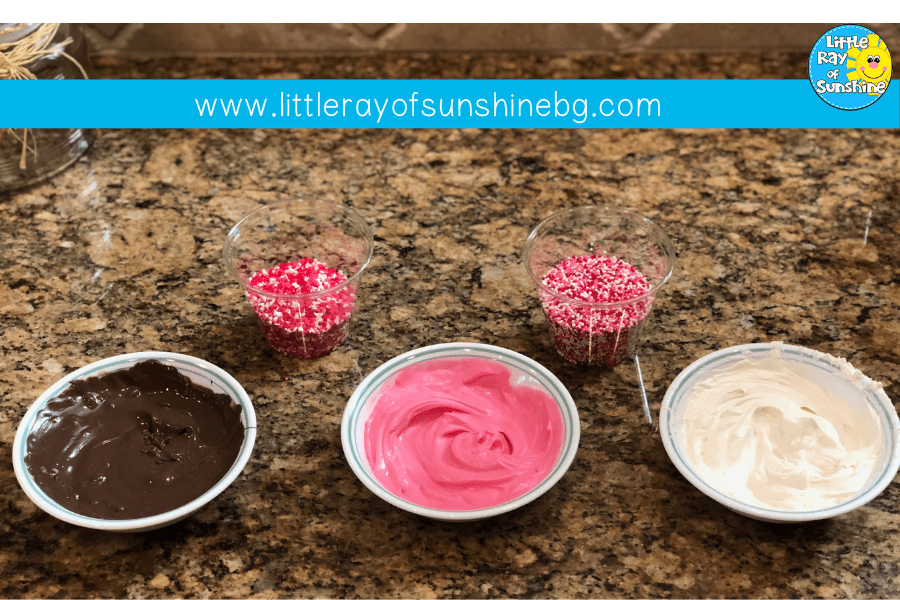 Sprinkles and candy melts to decorate!