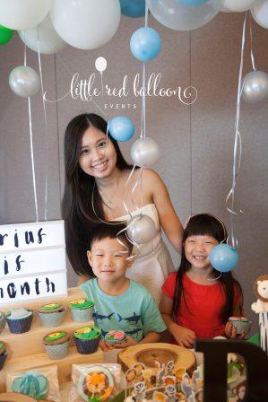 girl-with-children-birthday-party