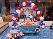 Nautical Hello Kitty Dessert Table