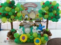 Totoro Dessert Table and Balloon Decor