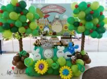 Totoro Dessert Table and Balloon Decor