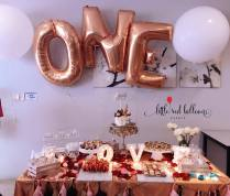 dessert table and balloon helium foils