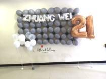 21st-birthday-balloon-decoration-singapore