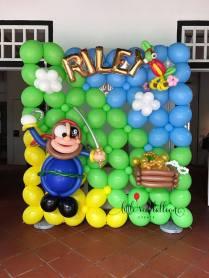 Pirate Themed Decor Balloon Backdrop