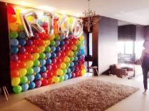 Rainbow Balloon Decor Backdrop