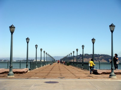 Along the Embarcadero.