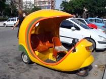 Coco Taxi, these were all over Cuba. A cheaper alternative than regular taxi.