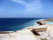 Ocean view from Morro Castle in Havana.