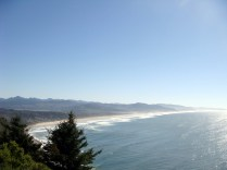 Driving southbound along the Oregon coast. We stopped by a viewpoint to capture this image. I think this was looking out over Oswald West State Park.