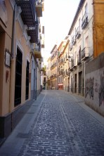 The narrow and confusing streets of Granada. That road is just wide enough for one car to drive through. If you're walking along the street you basically have to be up against the wall to avoid getting hit! Twas a fun experience!