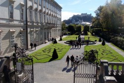 Mirabell Palace & Gardens - Not the best picture because the steps are outside of the picture at the bottom but those were the same steps that Maria and the children were jumping from when they were singing Do Re Mi.