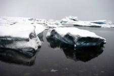 Jökulsárlón (glacial lagoon) in south east Iceland.