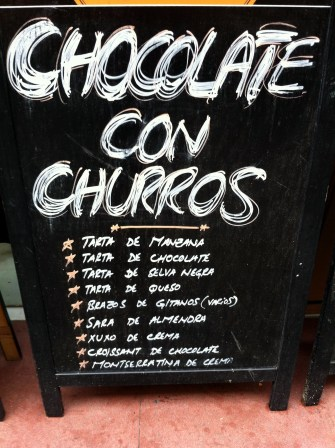 Finally found a place that served churros with drinkable chocolate.