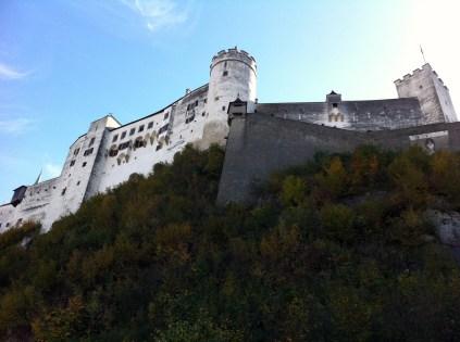 Climbing up to Hohensalzburg Fortress.