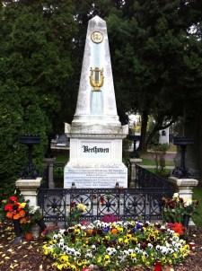 Beethoven's grave, Zentralfriedhof cemetary in Vienna, Austria.