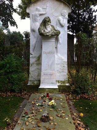 Brahms's grave.
