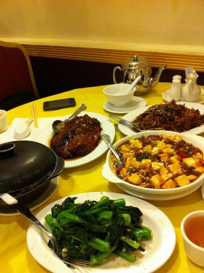 Lunch at Four Seasons Chinese Restaurant, apparently famous for their roast duck (you can also pay a bit more to have them de-bone your roast duck for you haha! Found that funny)