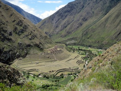 Patallaqta - The first of many Incan sites as seen along the Incan Trail